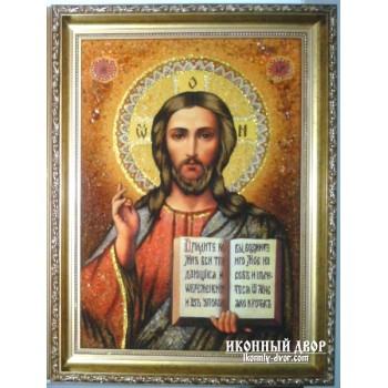 Ікона Спасителя - красива янтарна ікона (арп-3)