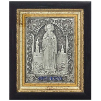 Икона Святая княгиня Ольга - красивая икона, с серебром (k-26)