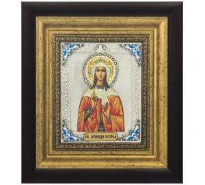 Икона Святая мученица София - красивая икона с серебром (k-29)