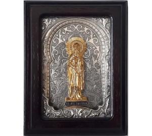 Ікона Свята мучениця Тетяна - іменна ікона, з сріблом (юо-53)