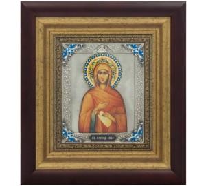 Ікона Свята праведна Анна, мати пресвятої Богородиці, ікона з сріблом (k-28)