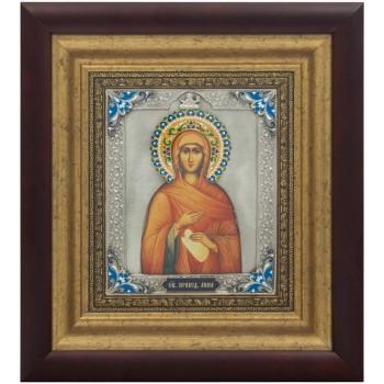 Икона Святая праведная Анна, мать пресвятой Богородицы - икона с серебром (k-28)
