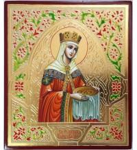 Икона Святая Равноапостольная царица Елена - красивая писаная икона (Вч-20)