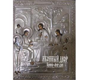 Икона Святая Троица - писаная икона (гр-47)