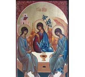 Икона Святая Троица - писаная икона (Гр-84)