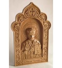 Ікона Святитель Миколай - різьблена ікона з дерева (ДВ-20)