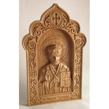 Икона Святой Николай, икона из дерева купить