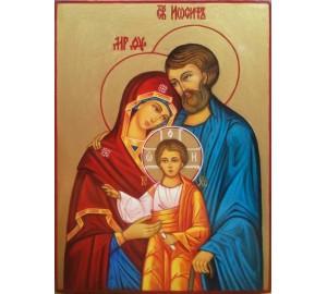 Икона Святое Семейство (Свята Родина) - писаная икона (АХ-01)