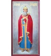 Икона святого равноапостольного князя Владимира - красивая писаная икона (ир-37)