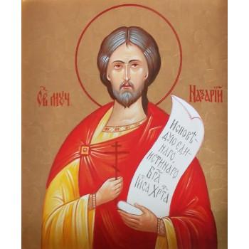 Ікона Святого великомученика Назарія - ікона писана (хм-20)