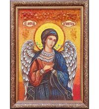 Ікона Святий Ангел Хранитель - ікона ручної роботи, з бурштину (ар-343)
