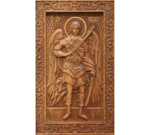 Икона Святой Архангел Михаил - икона из натурального дерева (р-32)