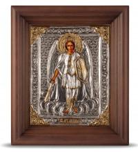 Ікона Святий Архангел Михаїл - ікону в окладі зі сріблом (хм-61)
