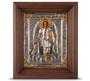 Икона Святой Архангел Михаил - икона в окладе с серебром (хм-61)