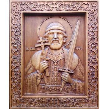 Икона Святой благоверный князь Игорь Черниговский, икона из дерева купить
