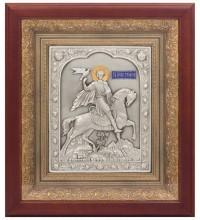 Икона Святой мученик Трифон - икона с серебром (k-22)