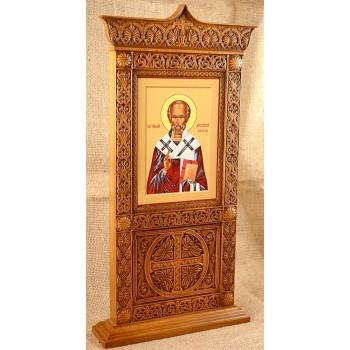 Икона Святой Николай, настольный киот купить