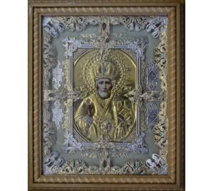 Икона Святой Николай - красивая икона на подарок (Ч-26)