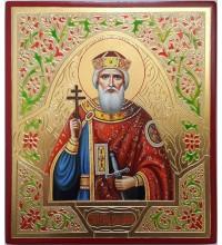 Икона святой равноапостольный князь Владимир - писаная икона (ВЧ-21)