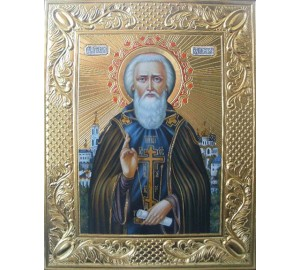 Икона Святой Сергий Радонежский - писаная икона (ВЧ-07)
