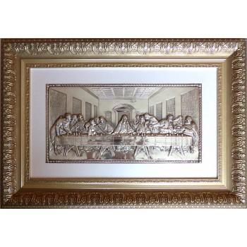 Икона Тайная вечеря - достойная икона на подарок, с серебром (лтв-07)