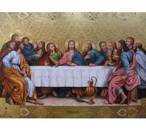 Икона Тайная вечеря - писаная икона (Гр-45)