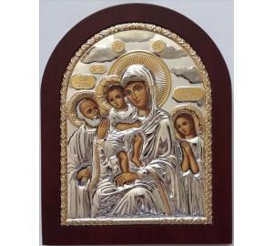 Икона Трех Радостей - икона с серебром (EK5-273XAG)