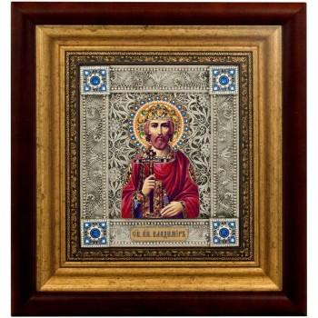 Икона Владимир равноапостольный - икона с серебром (k-07/1)