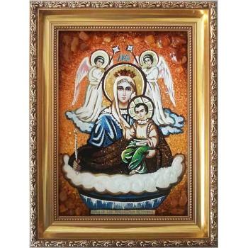 Икона Живоносный источник - икона из янтаря (ар-302)
