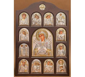 Иконостас - центральная икона Семистрельная Богородица (01.04.К.152)