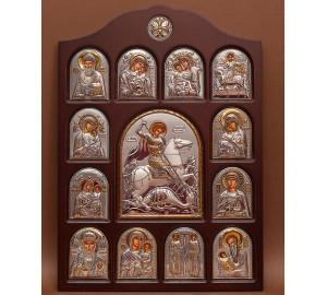 Иконостас - центральная икона Святой Георгий Победоносец (01.04.Г.19.02)