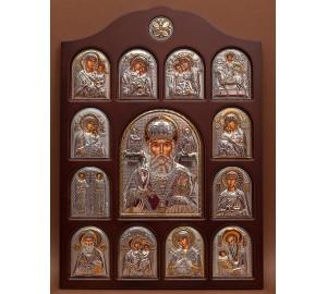 Иконостас - центральная икона Святой Николай Чудотворец (01.04.Н.19.02)