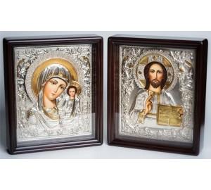 Иконы для венчания  Божья Матерь Казанская и Господь Вседержитель (Хм-48)