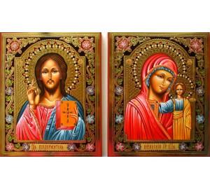 Ікони Господь Вседержитель і Казанська Богородиця - писані ікони (Гр-57)
