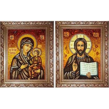 Иконы Иисус Христос и Божья Матерь Иверская (арп-11)