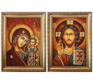 Иконы Иисус Христос и Божья Матерь Казанская (арп-10)