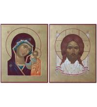 Ікони Спас Нерукотворний і Божа Матір Казанська - писані ікони (Ір-33)
