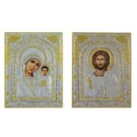 Иконы Спаситель и Казанская Богородица (001/004XM)