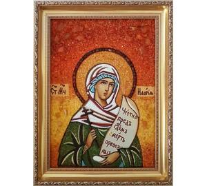 Іларія - іменна ікона з янтаря, помічниця в сімейних проблемах і безшлюбність (ар-145)