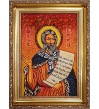 Илия Пророк - Икона янтарная (ар-50)