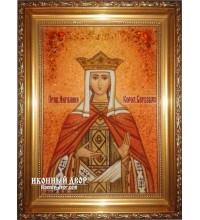 Іменна ікона Ангеліна - ікона з янтаря (ар-210)