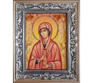 Именная икона Соломия - красивая икона из янтаря (ар-133/1)