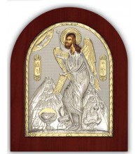 Иоанн Предтеча - Икона из Греции с серебром и позолотой (GOLD)