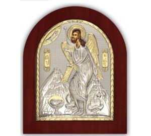 Іоанн Предтеча - Ікона з Греції з сріблом та позолотою (GOLD)