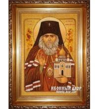 Иоанн Шанхайский и Сан-Францисский - икона из янтаря, ручная работа (ар-189)