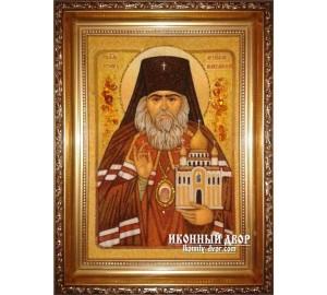 Іоанн Шанхайський і Сан-Франциський - ікона з янтаря, ручна робота (ар-189)