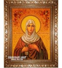 Іоанна - красива іменна ікона з бурштину ручної роботи (ар-197)