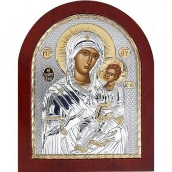 Иверская икона - Икона из Греции с серебром, 20*25 см (EK106)