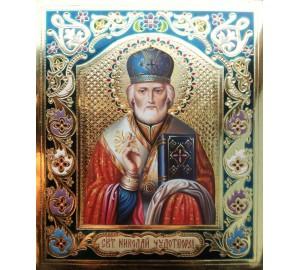 Изысканная писаная икона Святитель Николай (Гр-23)