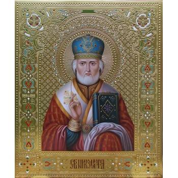 Вишукана писана ікона Святий Миколай (Дм-10)